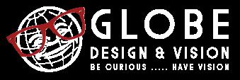 Globe Design & Vision Logo